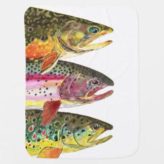 Future Trout Fishing Fan's Baby Blanket