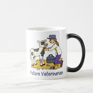Future Vet - Girl with Cow Magic Mug