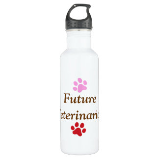 Future Veterinarian-Colorful Paw Prints 710 Ml Water Bottle
