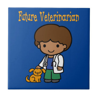 Future Veterinarian When I Grow Up Ceramic Tile