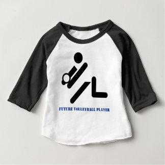 Future volleyball player black, blue custom tshirt