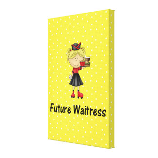 future waitress stretched canvas print