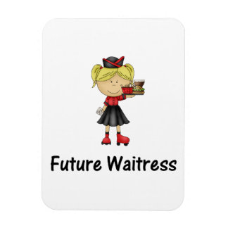 future waitress rectangular magnets