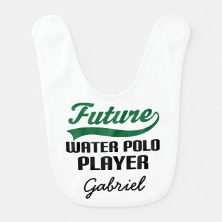 Future Water Polo Player Personalised Baby Bib