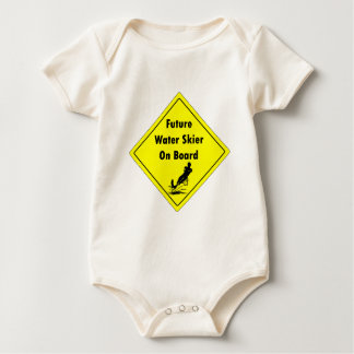 Future Water Skier On Board Baby Bodysuit