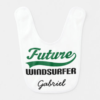 Future Windsurfer Personalized Baby Bib