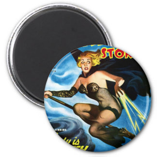 Future Witch 6 Cm Round Magnet