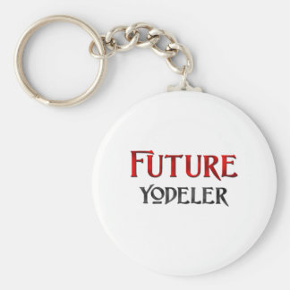 Future Yodeler Basic Round Button Key Ring