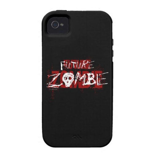 Future Zombie Red White Case-Mate iPhone 4 Cases