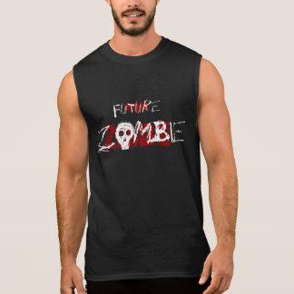 Future Zombie Red White Sleeveless Shirt