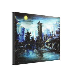 Futuretown Painting Gallery Wrapped Canvas