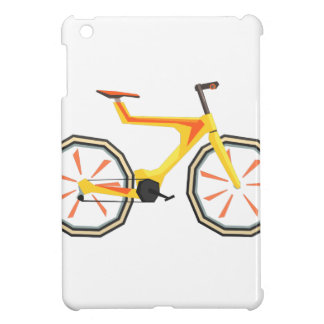 Futurictic Design Yellow Bicycle. Cool Colorful iPad Mini Cover