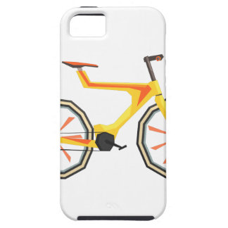 Futurictic Design Yellow Bicycle. Cool Colorful iPhone 5 Case