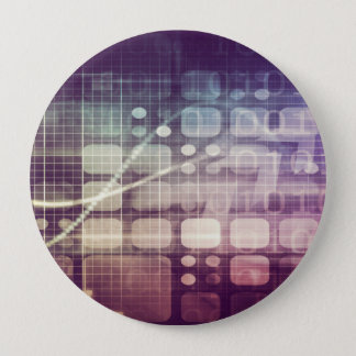 Futuristic Abstract Concept on Technology 10 Cm Round Badge