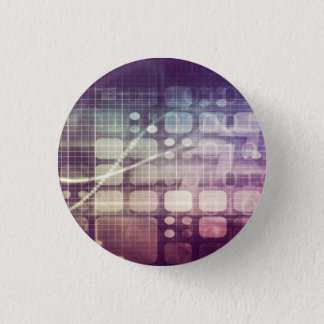 Futuristic Abstract Concept on Technology 3 Cm Round Badge