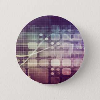 Futuristic Abstract Concept on Technology 6 Cm Round Badge