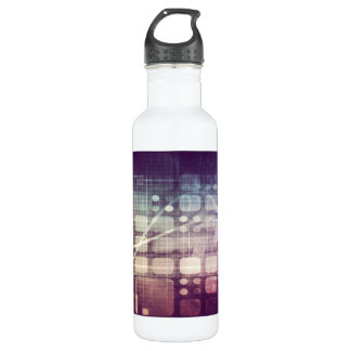 Futuristic Abstract Concept on Technology 710 Ml Water Bottle