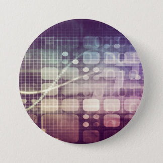 Futuristic Abstract Concept on Technology 7.5 Cm Round Badge