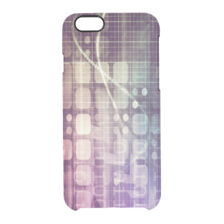 Futuristic Abstract Concept on Technology Clear iPhone 6/6S Case