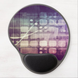 Futuristic Abstract Concept on Technology Gel Mouse Pad