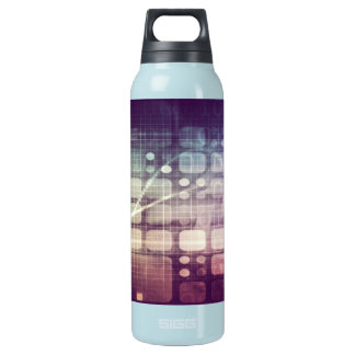 Futuristic Abstract Concept on Technology Insulated Water Bottle