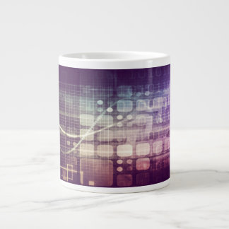Futuristic Abstract Concept on Technology Large Coffee Mug