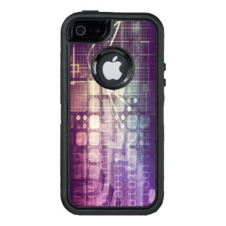 Futuristic Abstract Concept on Technology OtterBox Defender iPhone Case