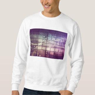 Futuristic Abstract Concept on Technology Sweatshirt