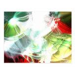 Futuristic Abstract Digital Art Postcard