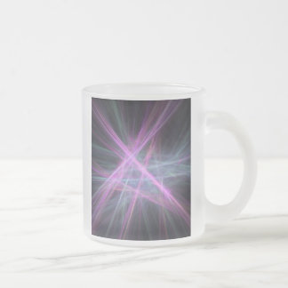 Futuristic Abstract Fractal Design Frosted Glass Coffee Mug