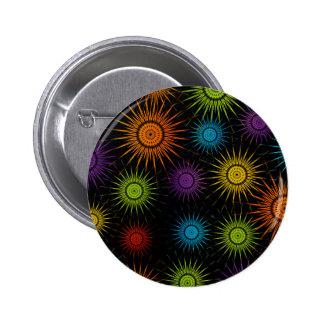 Futuristic artwork 6 cm round badge