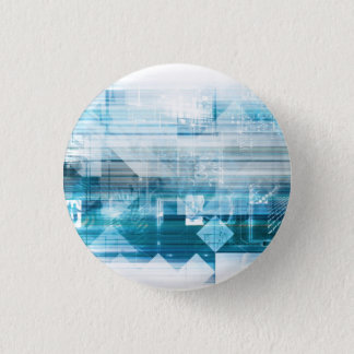 Futuristic Background with Technology Abstract 3 Cm Round Badge