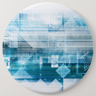 Futuristic Background with Technology Abstract 6 Cm Round Badge