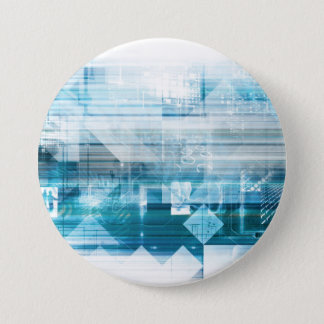 Futuristic Background with Technology Abstract 7.5 Cm Round Badge