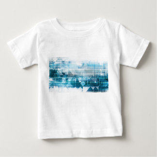 Futuristic Background with Technology Abstract Baby T-Shirt