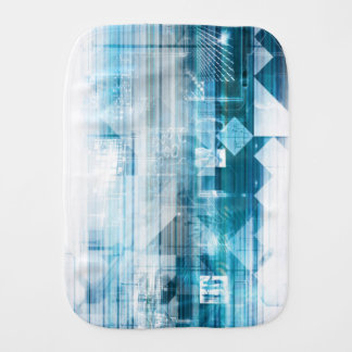Futuristic Background with Technology Abstract Burp Cloth