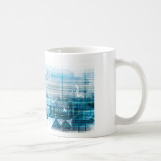 Futuristic Background with Technology Abstract Coffee Mug