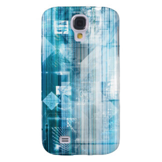 Futuristic Background with Technology Abstract Galaxy S4 Cover