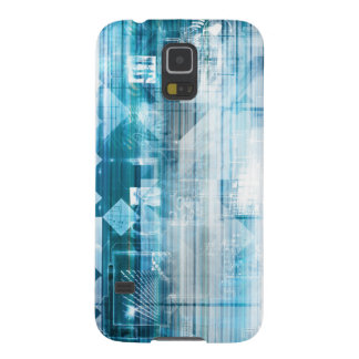 Futuristic Background with Technology Abstract Galaxy S5 Case