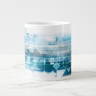 Futuristic Background with Technology Abstract Large Coffee Mug