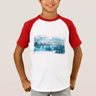 Futuristic Background with Technology Abstract T-Shirt
