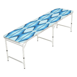 Futuristic Blue Arch Beer Pong Table