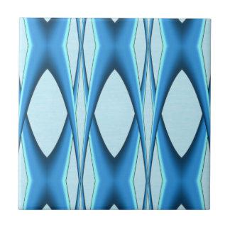 Futuristic Blue Arch Ceramic Tile