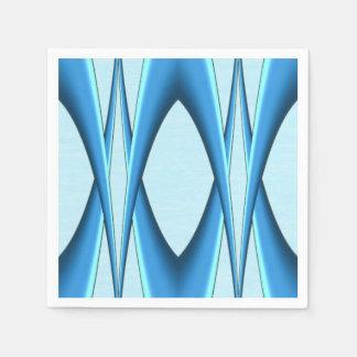 Futuristic Blue Arch Disposable Serviette