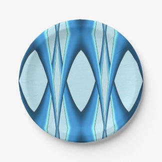 Futuristic Blue Arch Paper Plate