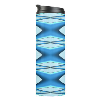 Futuristic Blue Arch Thermal Tumbler