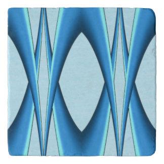 Futuristic Blue Arch Trivet