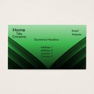 Futuristic Business Card, Green Business Card