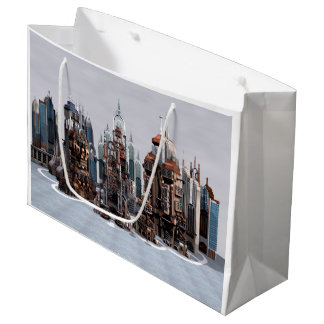 Futuristic City Large Gift Bag