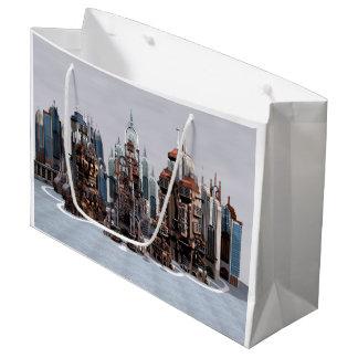 Futuristic City Large Gift Bag